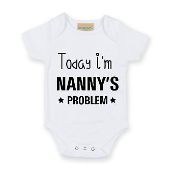 Today I'm Nanny's Problem White Short Sleeve Baby Grow