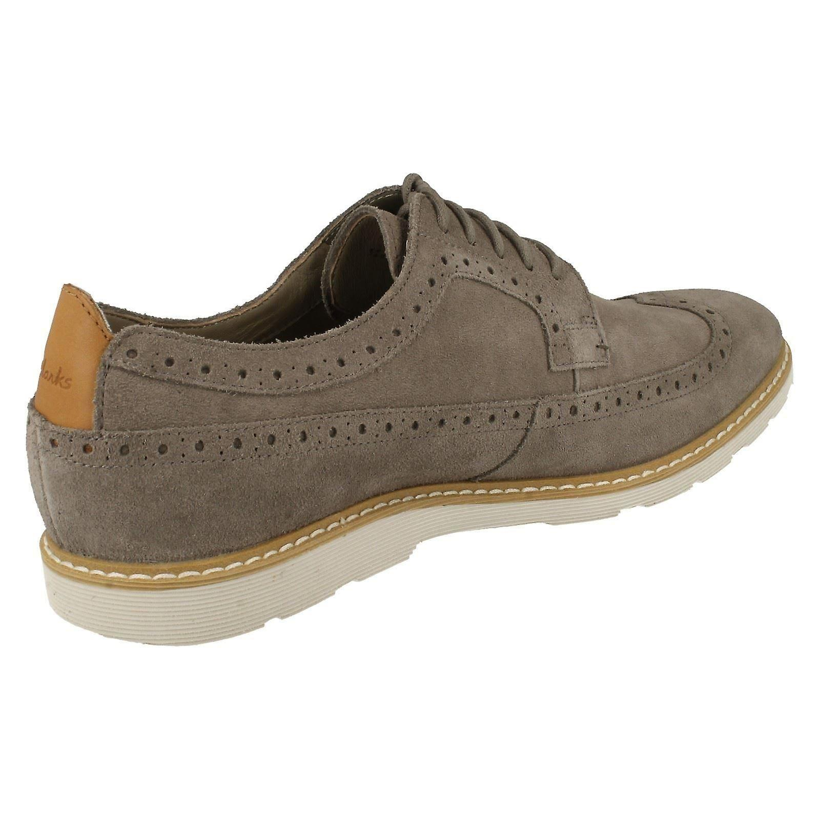 Mens Clarks Gambeson Dress Smart//Casual Brogues