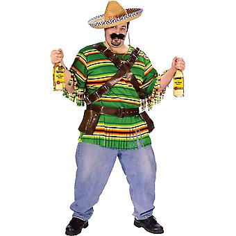 Mexicain Guy adulte Plus taille Costume