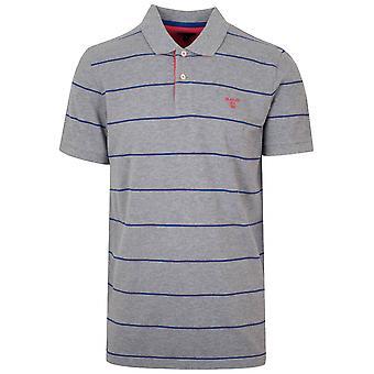 GANT Grey Striped Polo Shirt