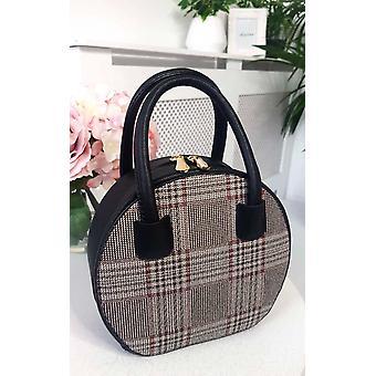 IKRUSH Womens Rhanee Check Circle Handbag