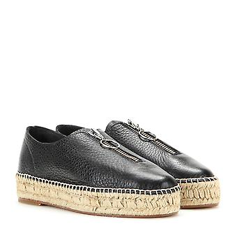 Alexander Wang Womens Devon Leather Almond Toe Espadrille Flats