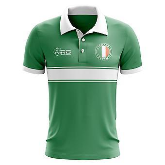 Irland-Konzept-Streifen-Polo-Shirt (grün)