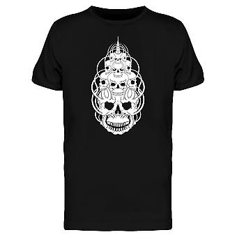 Skull Face Mysticism Graphic Tee Men's -Image by Shutterstock