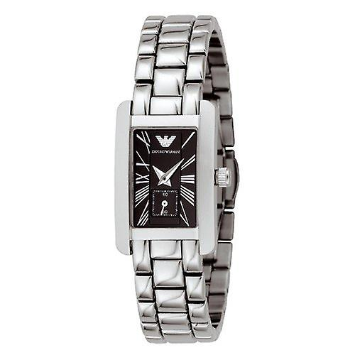 Emporio Armani Ar0170 Ladies Stainless Steel Watch With Black Dial