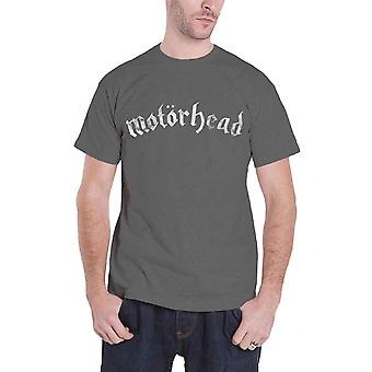 Motorhead T Shirt Classic Distressed Band Logo Official Mens New Charcoal Grey