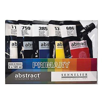 Sennelier Abstract Acrylic Set 5 x 120ml (Primary Colours)