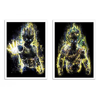 2 Art-Poster - Duo S S Goku and Vegeta - Barrett Biggers