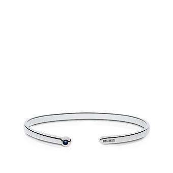 Cincinnati Reds Engraved Sterling Silver Sapphire Cuff Bracelet
