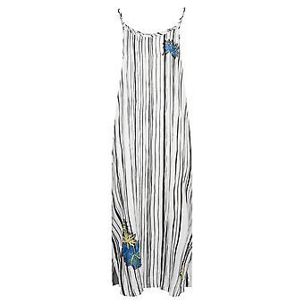 Féraud 3195319-16527 Women's Voyage Artstripe White Kaftan Beach Dress