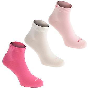 Puma Womens Ladies Quarter Socks 3 Pack Summer Sports Wear Accessory Clothing