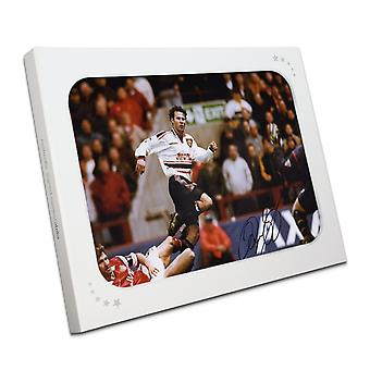 Ryan Giggs firmó Manchester United Photo: FA Cup Semi Final Wonder Goal in Gift Box