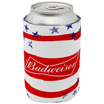 Budweiser USA Flag Can Cooler