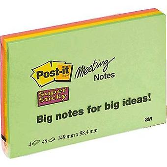 Post-it Sticky note 7100043257 149 mm x 98 mm Neon green, Neon orange, Ultra pink, Ultra yellow 180 sheet