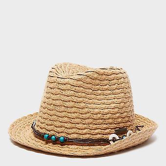 Nieuwe trekmates vrouwen ' s klassieke stro hoed beige