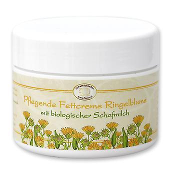 Florex voedende vetcrème met goudsbloem en biologische schapenmelk in extreem droge huid met lanoline 125 ml
