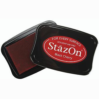StazOn Solvent Ink Pad - Black Cherry
