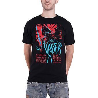 حرب النجوم تي قميص دارث فيدر الصخور ملصق جديد الرسمية الرجال الأسود