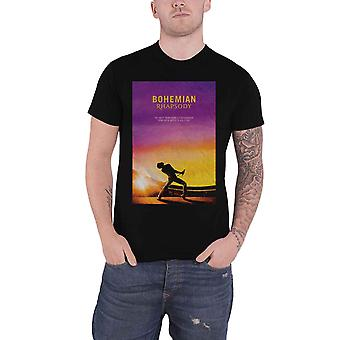 Official Bohemian Rhapsody T Shirt Queen Movie Logo Freddie new Mens Black