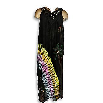メトロポリタンドレス装飾 スリーブレスブラック/ピンク