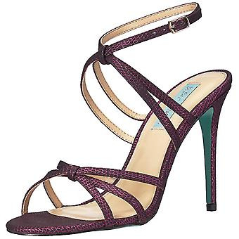 Betsey Johnson Womens Myla Fabric Open Toe Casual Ankle Strap Sandals
