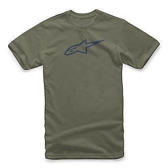 Alpinestars Ageless Short Sleeve T-Shirt in Military Green/Navy