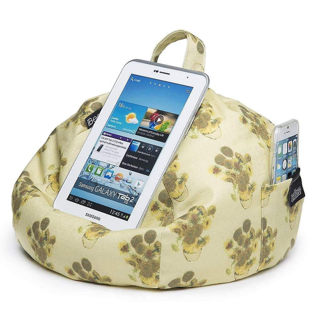 Ipad, tablet & ereader bean bag stand by ibeani - vincent van gogh sunflowers