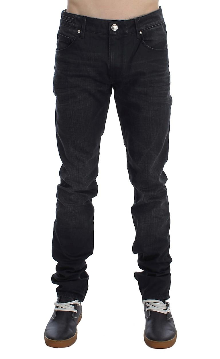 Gray Cotton Skinny Slim Fit Jeans