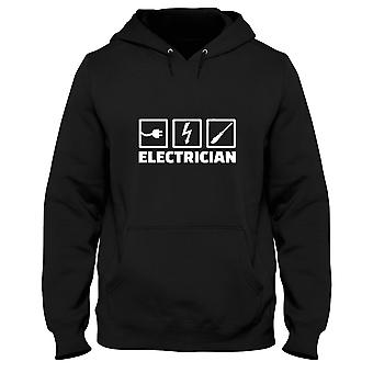 Black men's hoodie dec0075 electrician tools