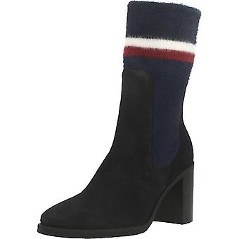 Tommy Hilfiger Booties Fw0fw04497 Color Midnight