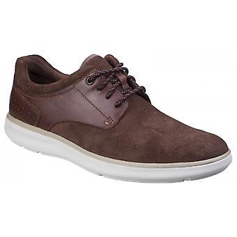 Rockport Zaden Mens Leather Casual Trainers Dark Tan