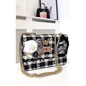 IKRUSH Mulheres Lilly Flor Embelezado Tweed Shoulder Bag