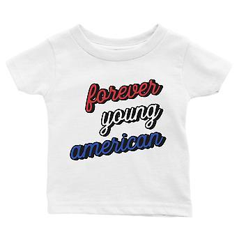 365 impresión para siempre joven americano bebé camiseta regalo blanco bebé niño cumpleaños