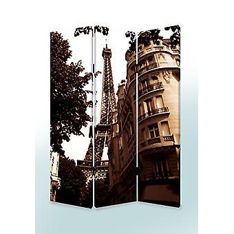 """1"""" x 48"""" x 72"""" Multi Color Wood Canvas Paris  Screen"""