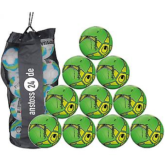 10 x Uhlsport training ball Futsal - MEDUSA KETO includes ball sack