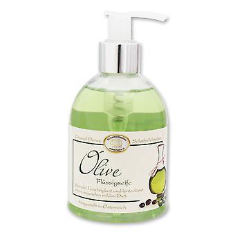 Jabón líquido Florex - aceite de oliva - en dispensador con mucha humedad y agradablemente suave 250 ml