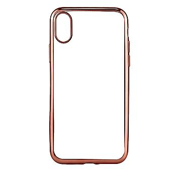 Rose Gold Transparent Electroplating For iPhone XS,X Case