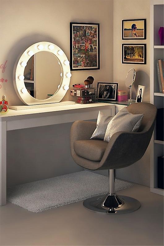 RGB Anastasia Audio White High Gloss Mirror (Round) Daylight