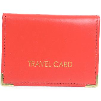 Mesdames / Womens / Mens Leather Travel Card / ID / titulaire de carte de crédit / affaire - noir
