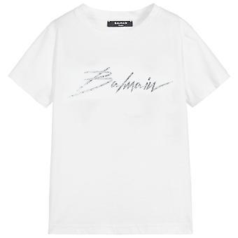 Balmain Kids Signature Logo T-Shirt