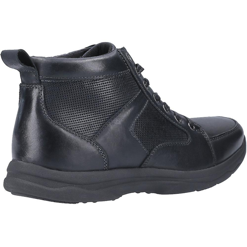 Hush Puppies Mens Newton Cuir Lace Up Ankle Bottes Chukka