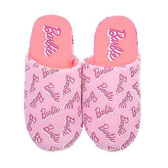Barbie egész nyomtatási logo lány's rózsaszín öszvér slip-on papucs