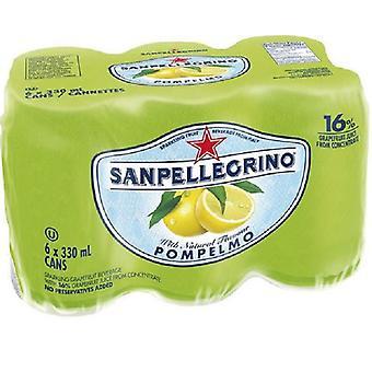 San Pellegrino Grapefruit Cans-( 330 Ml X 6 Cans )