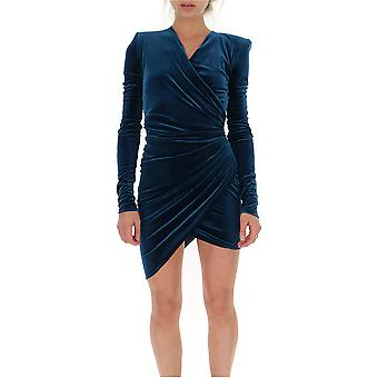 Alexandre Vauthier 193dr111701931144co Women's Petrol Velvet Dress