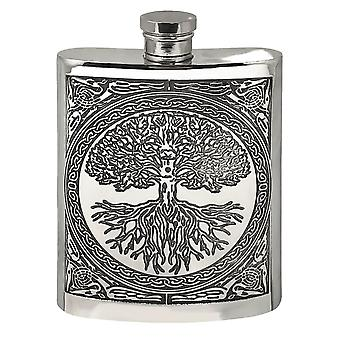 Celtic Tree of Life Pewter Hip Flask - 6oz