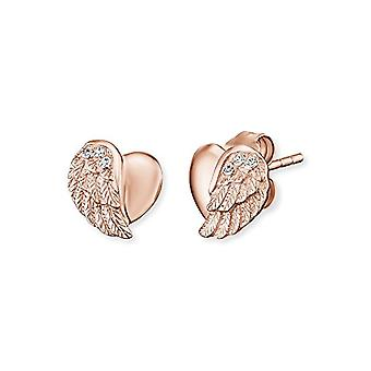 Engelsrufer Heartwing earrings for women rose gold plated 925 Sterling Silver mis 9 mm (0 -35;;)