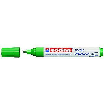 edding-4500 cr علامة النسيج الأخضر 10PC 2-3 ملم / 4-4500004