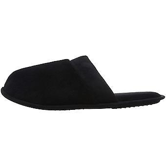 Dearfoams Men's Microfiber Terry Closed Toe Sc Slipper, Black, Small