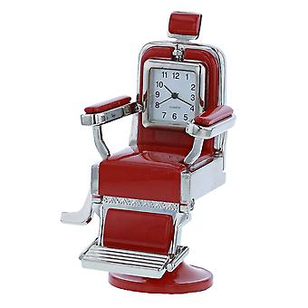 Miniatur Red Barber Chair Neuheit Quartz Movement Desktop Collectors Clock TM8