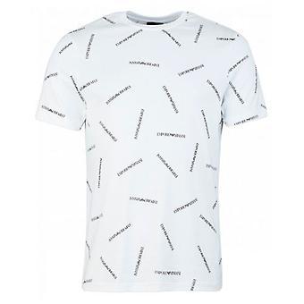 Armani All Over Script T-Shirt